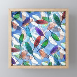 Feathers Framed Mini Art Print
