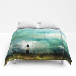 Tybee Island Lighthouse Painting Comforters
