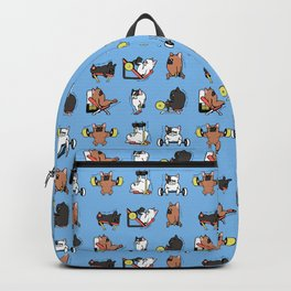Leg Day with French Bulldog Backpack