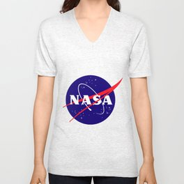 """The Official NASA """"Meatball"""" Logo (and licensed!) Unisex V-Neck"""