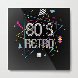 80s Retro Disco 80s Party 1980s Costume Metal Print