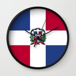 Dominican Republic flag emblem Wall Clock