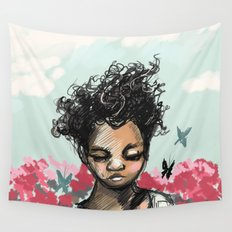 The Most Beautiful Flower Wall Tapestry