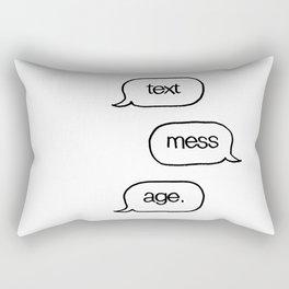 Text Message Hand Drawn Pop Art Print Rectangular Pillow
