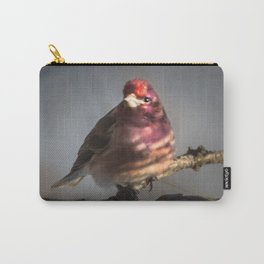 March Purple Finch Carry-All Pouch