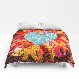 Love Over Fire Comforters