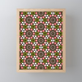 Persian Mosaic – Pink & Sage Palette Framed Mini Art Print