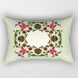 light green medalion Rectangular Pillow