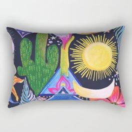 Cactus Sunrise Looking at You Rectangular Pillow