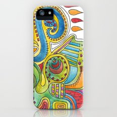 colourful doodle Slim Case iPhone (5, 5s)