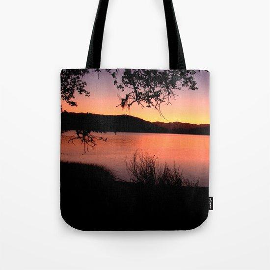 LAKE HENNESSEY - NAPA CALIFORNIA - SUNSET REFLECTION  Tote Bag