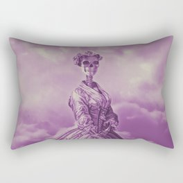 Lady Bonehead VINTAGE PURPLE / Skeleton portrait Rectangular Pillow