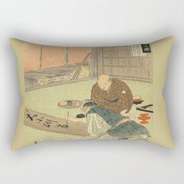 A professional writing man and an audience Rectangular Pillow