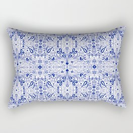 Chinoiserie Folk Seamless Pattern Rectangular Pillow