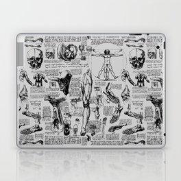 Da Vinci's Anatomy Sketchbook // Silver Laptop & iPad Skin