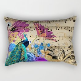 Feather Peacock 19 Rectangular Pillow