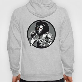 lion man MMA fighter pose Hoody