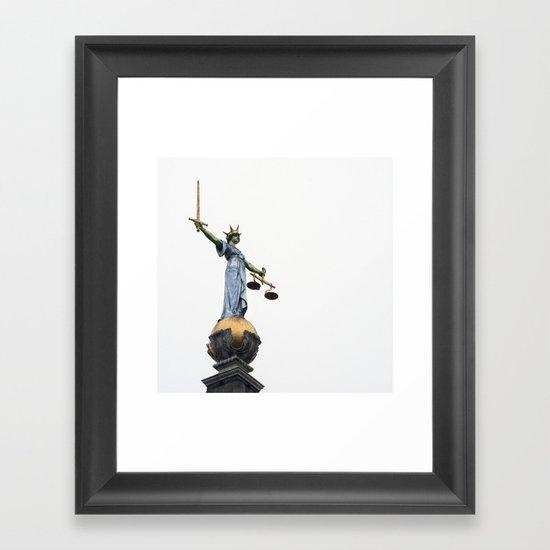 don't make her angry... Framed Art Print
