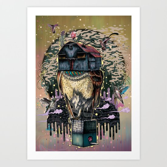 The Barn Owl Fortune Teller Art Print