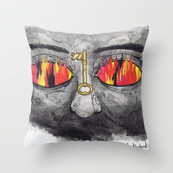 """The People's Key"" by Cap Blackard Throw Pillow"