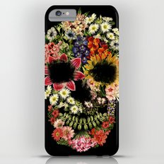 Floral Skull Vintage Black iPhone 6 Plus Slim Case