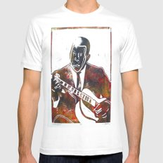 Muddy Waters 2/3 White MEDIUM Mens Fitted Tee