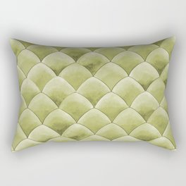 Green Snakeskin-ish Tessallation Rectangular Pillow