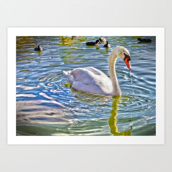 Surreal Swan Art Print