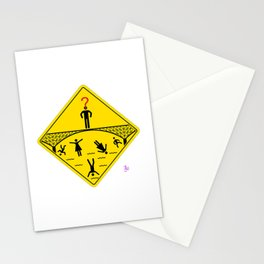 Jump Off Bridge Boy Stationery Cards
