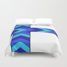 Arrows, in blue Duvet Cover
