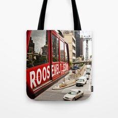 Roosevelt Island Sky Lift. New York City. Tote Bag