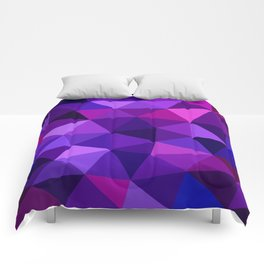 Crystal Galaxy Low Poly Comforters