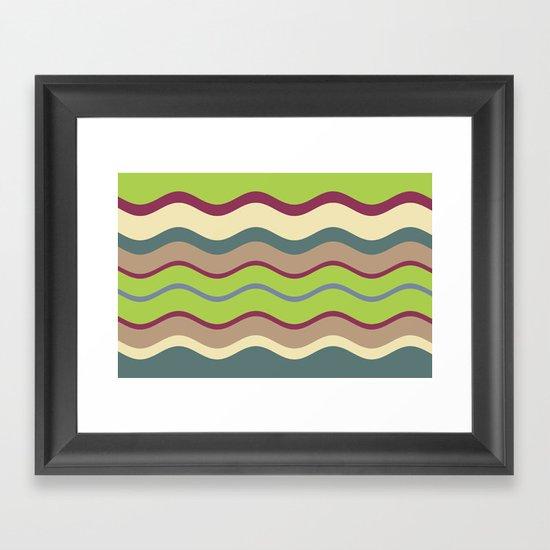 Appley Wave Framed Art Print