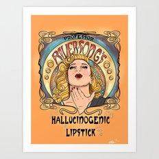 Professor River Song's Hallucinogenic Lipstick 3.0 Art Print