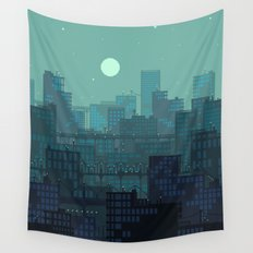 Midnight Blues Wall Tapestry