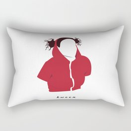 Ilana Wexler wearing a dog hoodie Rectangular Pillow