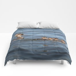 Momma and ducklings Comforters