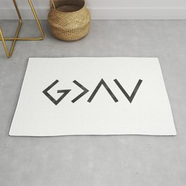 Christian Quote - God Is Greater Than The Highs and Lows Rug
