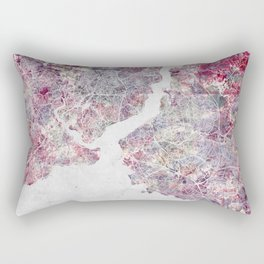 Istanbul Map Rectangular Pillow