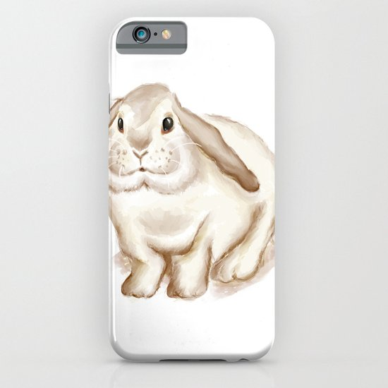 Watercolor Bunny iPhone & iPod Case