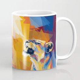 In the Sunlight - Lion portrait, animal digital art Coffee Mug