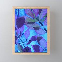 Purple Leaves Framed Mini Art Print
