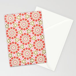 Persian Mosaic – Coral & Gold Palette Stationery Cards