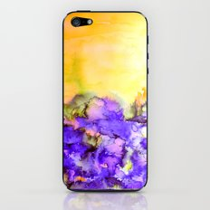 INTO ETERNITY, YELLOW AND LAVENDER PURPLE Colorful Watercolor Painting Abstract Art Floral Landscape iPhone & iPod Skin