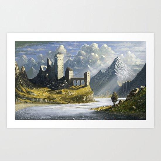 Abandoned Castle Art Print