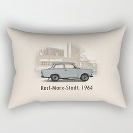 A Trabant in Karl-Marx-Stadt Rectangular Pillow