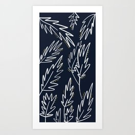 Palms on Navy Art Print