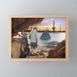 Desert Emergence collage Framed Mini Art Print