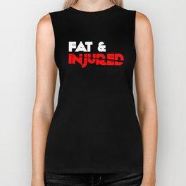 Fat & Injured (White) Biker Tank