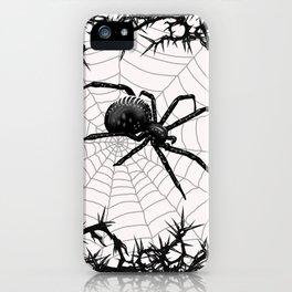Briar Web- Black and White iPhone Case